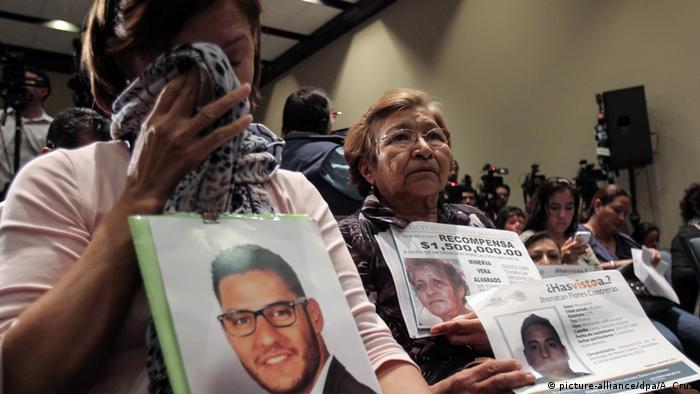 Verschleppten Studenten in Mexiko
