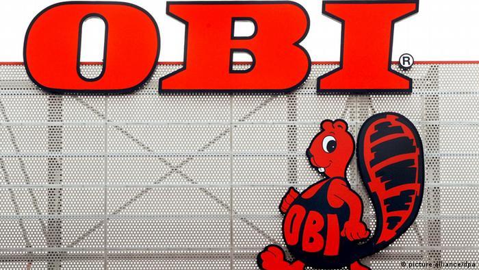 Deutschland Biber auf dem OBI Logo