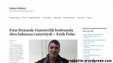 *** ACHTUNG Das Bild darf nur im Kontext einer Berichterstattung über diese Internetseite benutzt werden*** https://habernobetim.wordpress.com/ (Screenshot); Copyright: erktolia.org