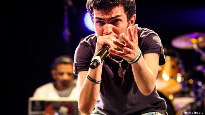 Syrian rapper Mohamed Abu Hajar