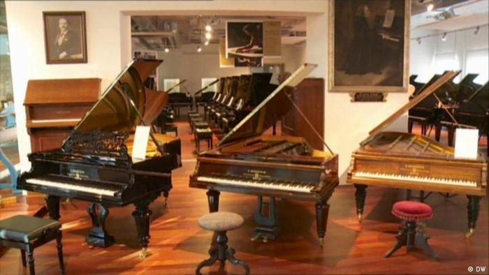 Three Bechstein pianos Standing next to each other
