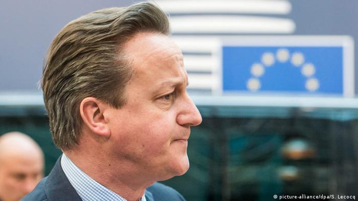 Großbritannien Premierminister David Cameron