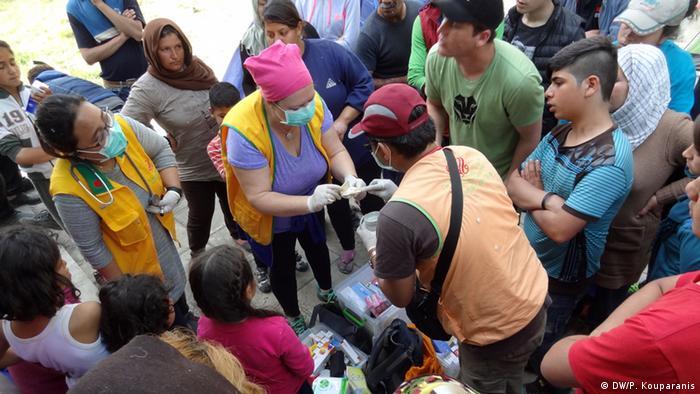 Refugees in Idomeni