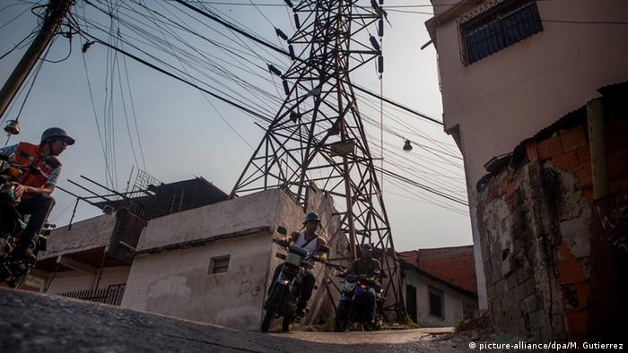An electricity pylon in Caracas