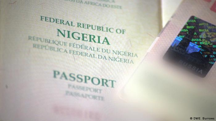 A Nigerian passport