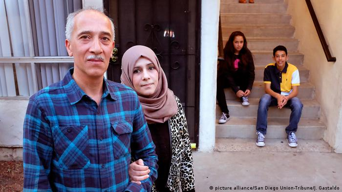 Syrian refugee family in San Diego