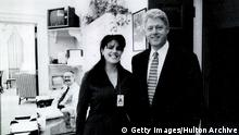 USA Monica Lewinsky und Bill Clinton