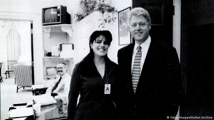 USA Monica Lewinsky und Bill Clinton (Getty Images/Hulton Archive)