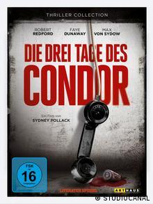 DVD-Cover des US-Thrillers Die drei Tage des Condor mit Robert Redford und Faye Dunaway (Foto: Studiocanal)