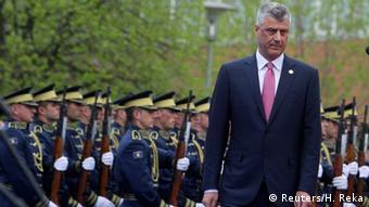 Kosovo Einweihungszeremonie Präsident Hashim Thaci in Pristina (Reuters/H. Reka)
