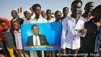 Sudan Khartum Anhänger Idriss Deby Präsident Tschad (Getty Images/AFP/A. Shazly)