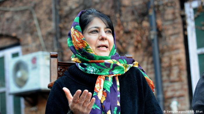 Indien Mehbooba Mufti in Srinagar (Getty Images/AFP/R. Bhat)