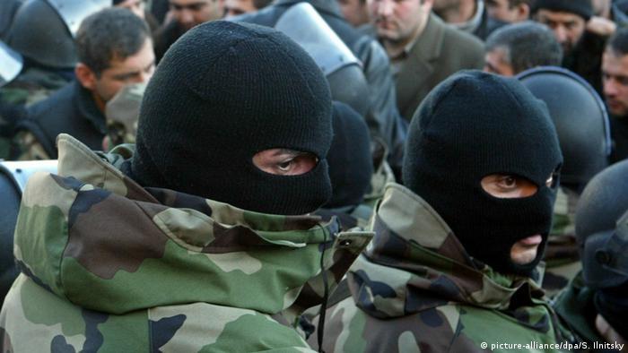 солдаты Нацгвардии Грузии в Тбилиси