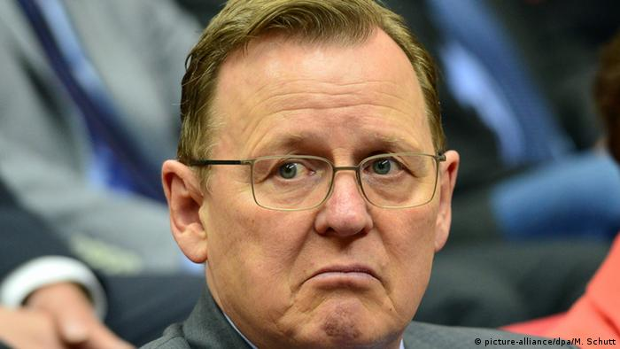 Bodo Ramelow frowns (picture-alliance/dpa/M. Schutt)