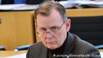 Deutschland Thüringens Ministerpräsident Bodo Ramelow in Erfurt (picture-alliance/dpa/M. Schutt)