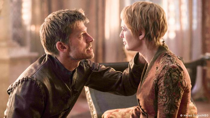 Cersei and her twin brother Jamie (Nikolaj Coster-Waldau) - Game of Thrones. Copyright: Helen Sloan/HBO