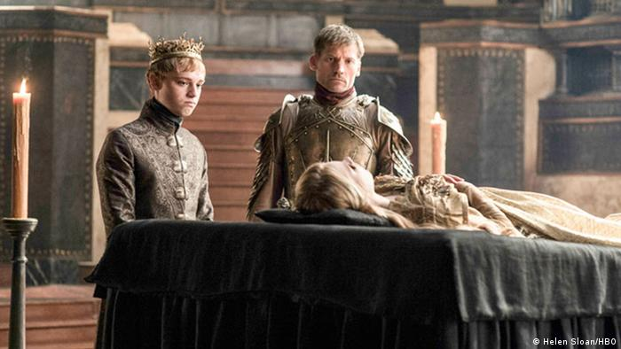 Dean-Charles Chapman (left) as King Tommen - Game of Thrones. Copyright: Helen Sloan/HBO