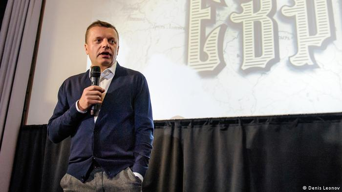 Леонид Парфенов на презентации первого фильма цикла