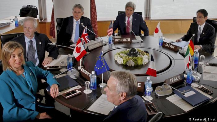 Japan Hiroschima G7 Außenminister Treffen Runder Tisch