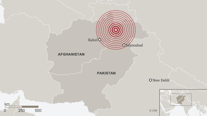 Karte Erdbeben Pakistan April 2016 englisch