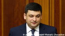 Volodymyr Groisman Ehemaliger Ministerpräsident der Ukraine