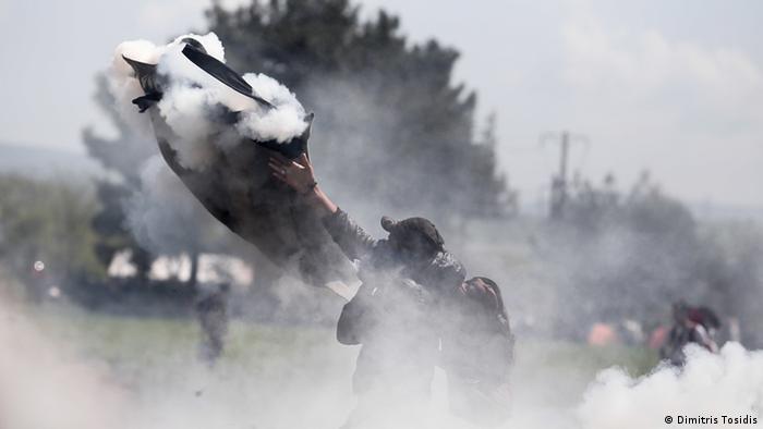 Idomeni Proteste Flüchtlinge