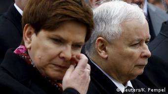 Polen Jahrestag Flugzeugabsturz Beata Szydlo und Jaroslaw Kaczynski