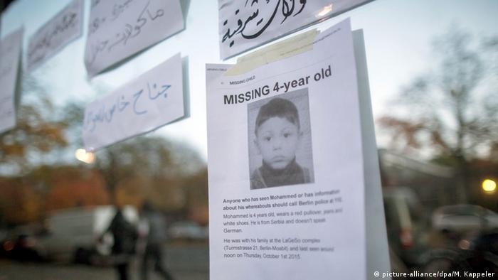 Aufruf zur Suche nach eimem vermissten Vier-Jährigen in Berlin (Foto: dpa)