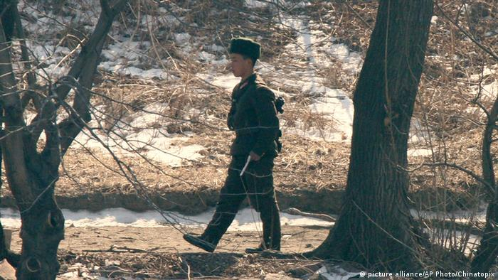 North Korean guard at border