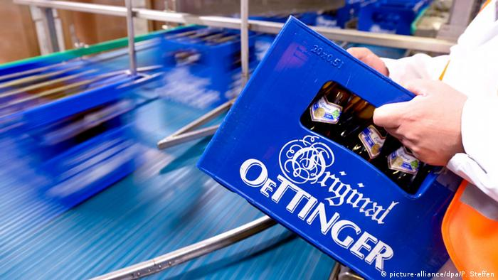 Ящик с пивом марки Oettinger