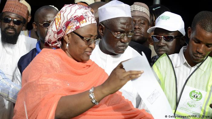 Nigeria Aisha Buhari bei den Wahlen 2015