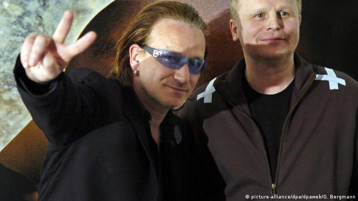 Herbert Grönemeyer and Bono, Copyright: picture-alliance / dpa / G. Bergmann