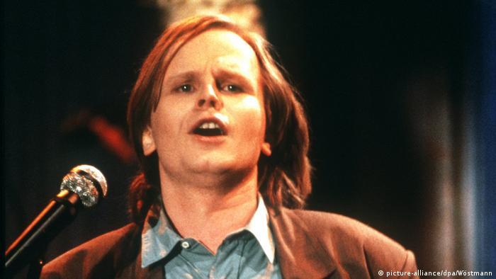 Herbert Grönemeyer auf der Bühne, Foto von 1988, dpa