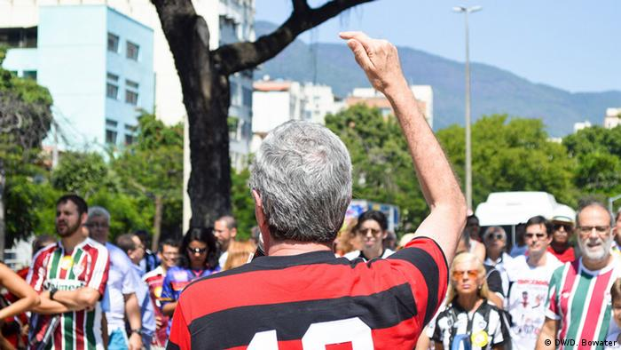 Soccer fans demonstrate for democracy in Rio de Janeiro