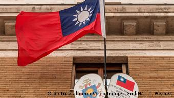 Symbolbild Taiwan Flagge (picture alliance/Arco Images GmbH/ J. T. Werner)