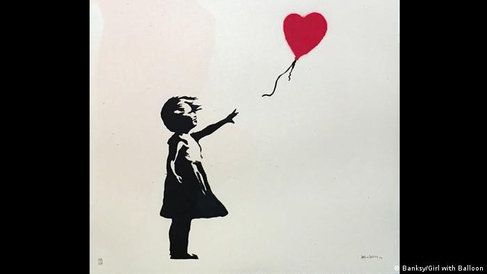 München Banksy-Ausstellung King of Urban Art in der Galerie Kronsbein Girl with Balloon. Copyright: Banksy /Girl with Balloon