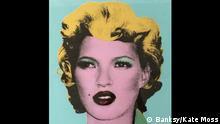 München Banksy-Ausstellung King of Urban Art in der Galerie Kronsbein Kate Moss