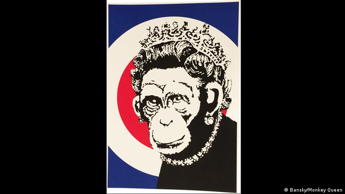 München Bansky-Ausstellung King of Urban Art in der Galerie Kronsbein. Copyright: Banksy/ Monkey Queen