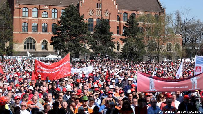 IG-Metall-Kundgebung in Duisburg