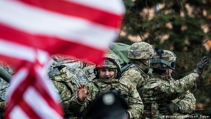 Tschechien US Militär Rückkehr nach Übungseinsatz zum Basis ins deutsche Vilseck
