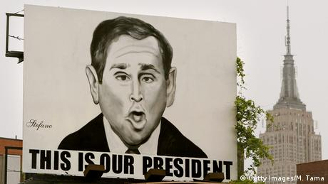 Cartoon of US President George W. Bush, Copyright: Getty Images /M. Tama