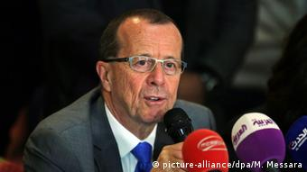 Martin Kobler PK zu Libyen in Berlin (picture-alliance/dpa/M. Messara)