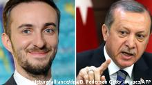 Bildkombo Jan Böhmermann und Recep Tayyip Erdogan NEU