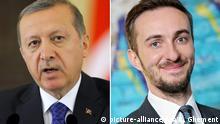 Bildkombo Jan Böhmermann und Recep Tayyip Erdogan