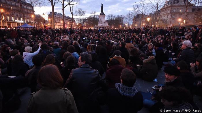 Frankreich Protest der Bewegung Nuit debout in Paris