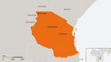 Karte Tansania Kayanga Englisch