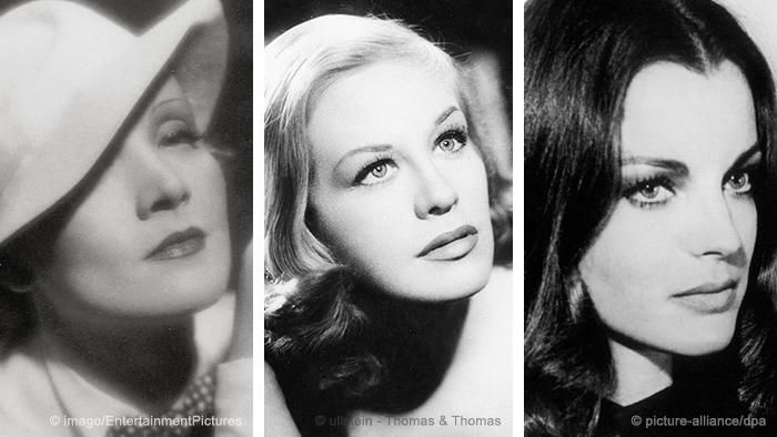 Marlene Dietrich, Hildegard Knef, Romy Schneider (Photo: DW-Grafik: Peter Steinmetz, DPA, Thomas und Thomas, Picture Alliance)