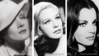 A picture of Marlene Dietrich, Hildegard Knef, Romy Schneider