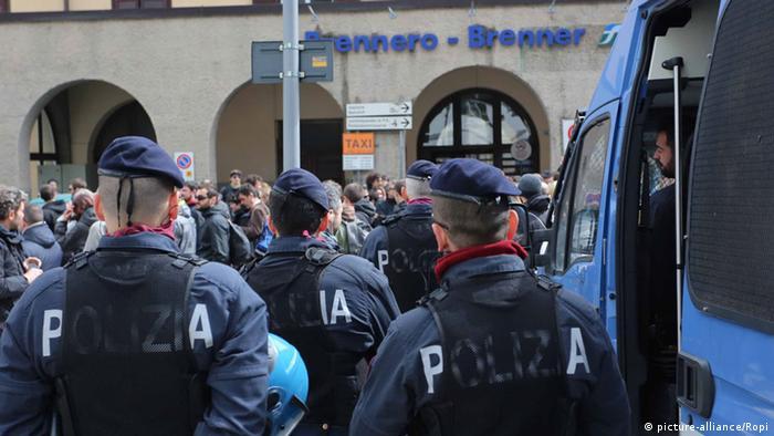 Österreich Italien Grenzübergang Brenner