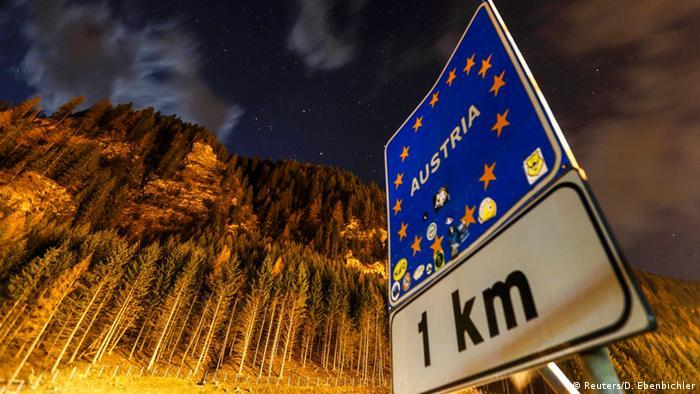 Austrian border at Brenner
